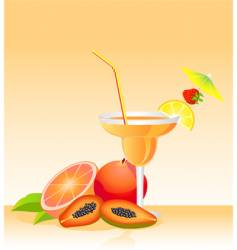 tropical liqueur vector image vector image