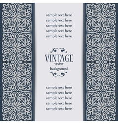 vintage background with golden ornament vector image vector image