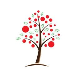apple tree symbolic vector image vector image