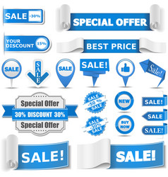 Blue Sale Banners vector image
