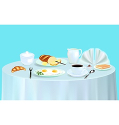 Breakfast with scrambled eggs vector image vector image