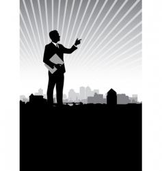 businessman cityscape vector image