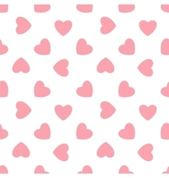 Pink hearts - seamless pattern vector image vector image