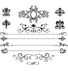 Set of patterns and vignettes vector image