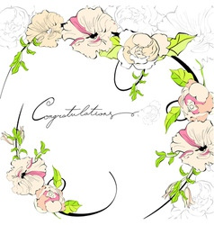 stylish frame with floral ornament vector image