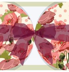 Vintage poppy floral Invitation vector image