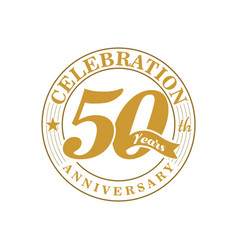 50 th golden anniversary vector