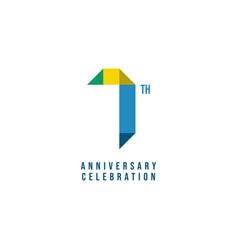 7 th anniversary celebration template design vector