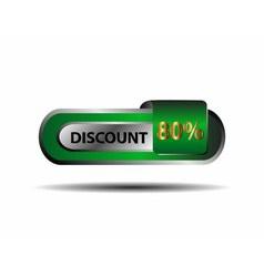 80 percent discount icon vector image
