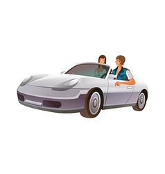 A car is plarked vector image
