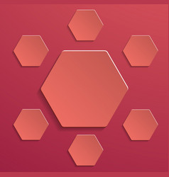 abstract creative image with hexagons one big in vector image