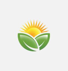 agriculture logo icon farm logo design vector image