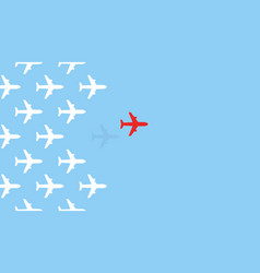 airplanes flying from on blue sky background vector image