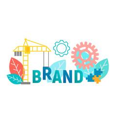 Banner concept brand branding vector