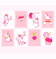 bashower invitation cards collection vector image