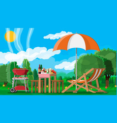 Bbq party or picnic vector