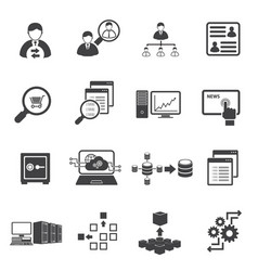 Big data icon set business finance vector