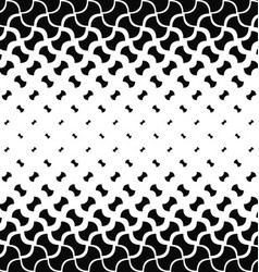 Black and white curved shape pattern background vector image