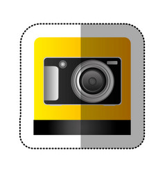 black digital professional camera icon vector image vector image