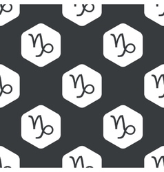 Black hexagon Capricorn pattern vector