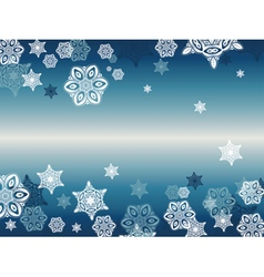 Blue Background with Snowflakes3 vector
