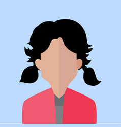 bonded hair women portrait vector image