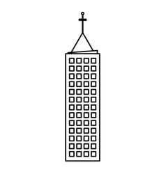 building architecture skyscraper outline vector image