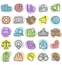 busines finance trendy new icon set eps10 vector image