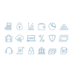 business finance icons banking law global economy vector image