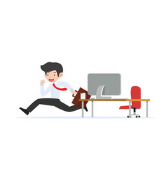 businessman running from office room vector image