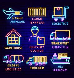 Cargo label set vector