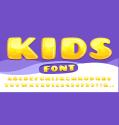 cartoon chubby font kids game alphabet child vector image
