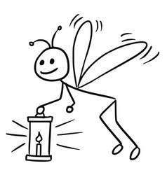 Cartoon firefly vector