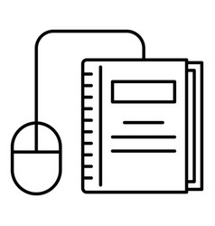 click on book icon outline style vector image