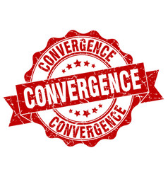 Convergence stamp sign seal vector