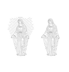 Deva maria magdalena or woman from ancient times vector