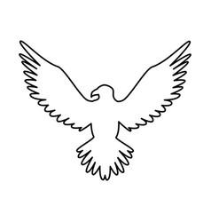 Eagle american emblem icon vector