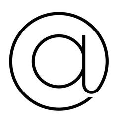 Email at symbol vector
