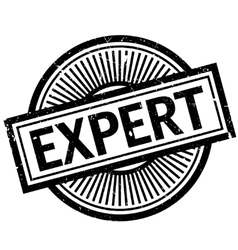 Expert rubber stamp vector