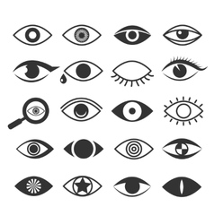 Eyes eye vision icons set vector