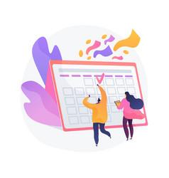 Festive calendar event concept metaphor vector