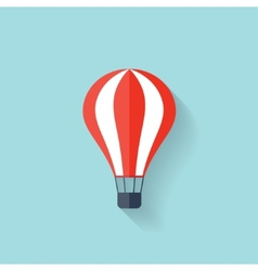 Flat air balloon web icon vector