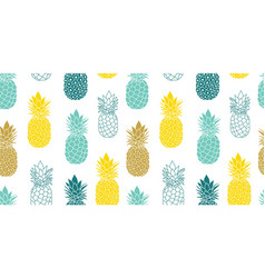 Fresh blue yellow pineapples repeat vector