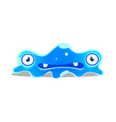 Funny cartoon sluggish blob monster cute bright vector