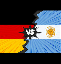 germany versus argentina flag vector image