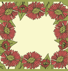 Greeting card floral background poster frame vector