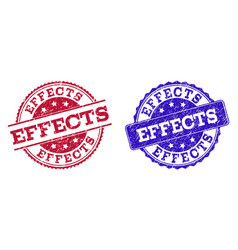 Grunge scratched effects stamp seals vector