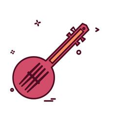 guitar icon design vector image