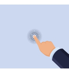 Hand touch screen vector image