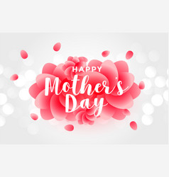 Happy mothers day rose background vector